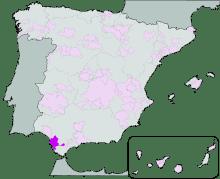 La zona di produzione dello Sherry